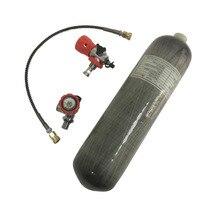 Acecare Охота Аксессуары Охота газовый пистолет бак 3L 300bar давления углеродного волокна материал Пейнтбол бак с клапаном и станции