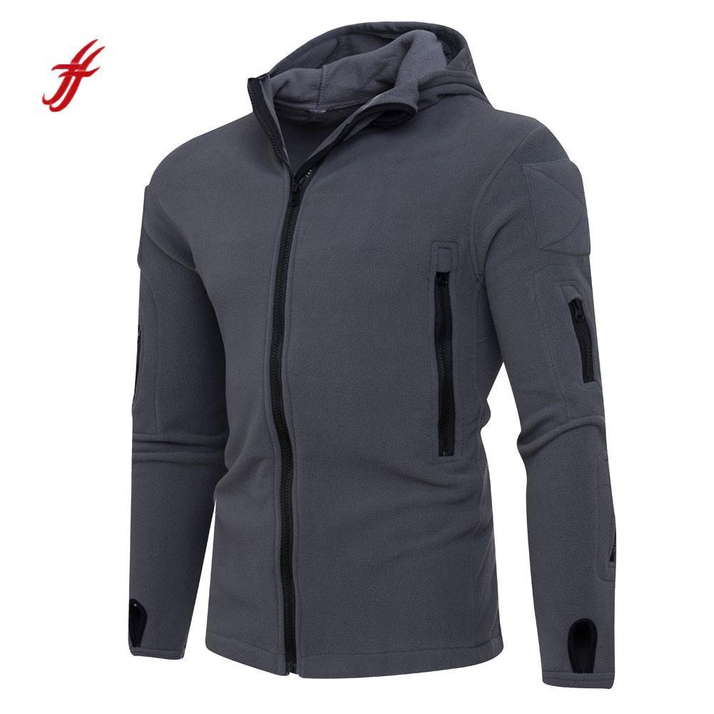 2018 Mens' Sweatshirt Winter Zipper Hoodie Hooded Sweatshirt Coat Jacket Outwear Slim Fit Hoodie Pullover Tops