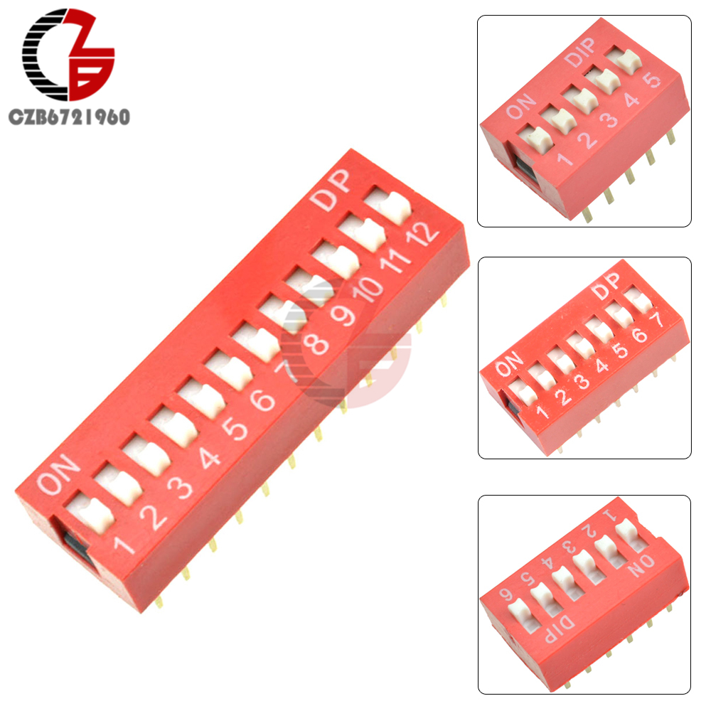 10pcs-1-2-3-4-5-6-7-8-9-10-12p-dip-switch-toggle-switch-slide-switch-red-position-way-switch