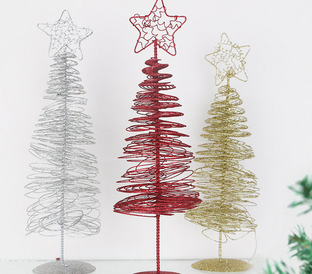 holiday home outdoor ornament large wrought iron crafts star metal wire standing christmas tree - Metal Christmas Decorations