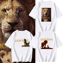 QZHIHE The Lion King T Shirt Men and Women 2019 New Movie Lion King Characters 3d Printed T-shirt Child White Tee Shirt Cotton(China)