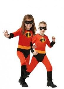 Image 2 - Disfraz de Halloween para niña, disfraz de Mr. Incredible 2, traje de Cosplay de violeta para niña, vestido elegante de superhéroe