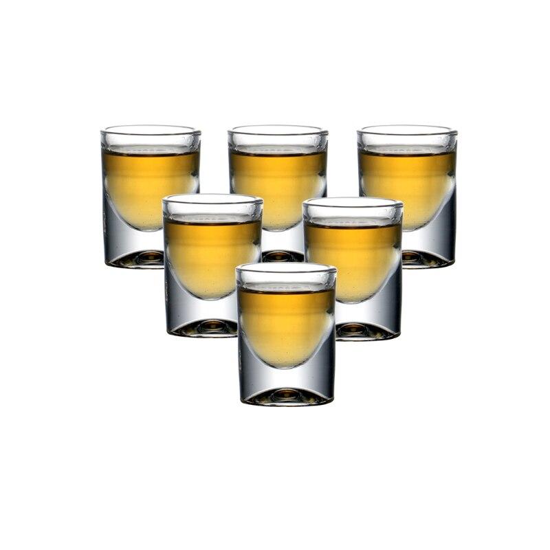 Набор из 6 шт. бессвинцовых стеклянных рюмок для ликера, набор для рождественского подарка, водка, спиртные напитки, китайский Baijiu, виски 15 мл