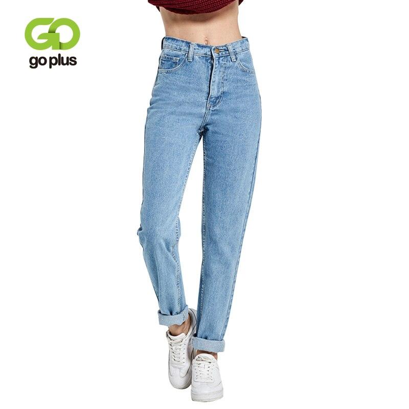 2019 pantalones Harem Vintage de cintura alta Jeans Mujer novio mujeres Jeans largo completo mamá Jeans vaquero pantalones Vaqueros mujer
