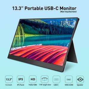 Image 1 - Elecrow LCD Display 13.3 inch Portable USB C Monitor Non touchscreen 1920*1080P HDMI Type C Design Screen for Raspberry Pi