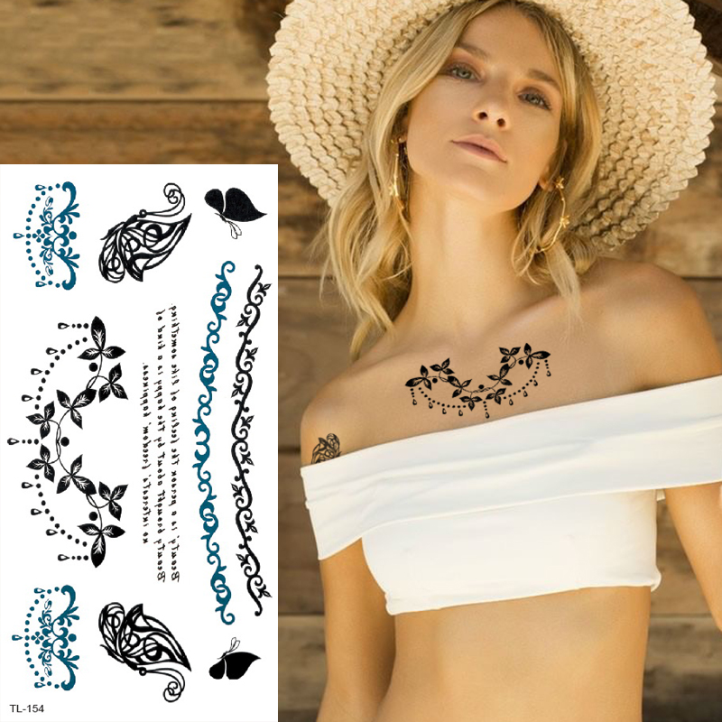 temporary tattoo sticker minimalist tatoo letter water transfer tattoo for girls sexy body stickers black tattoo jewelry women