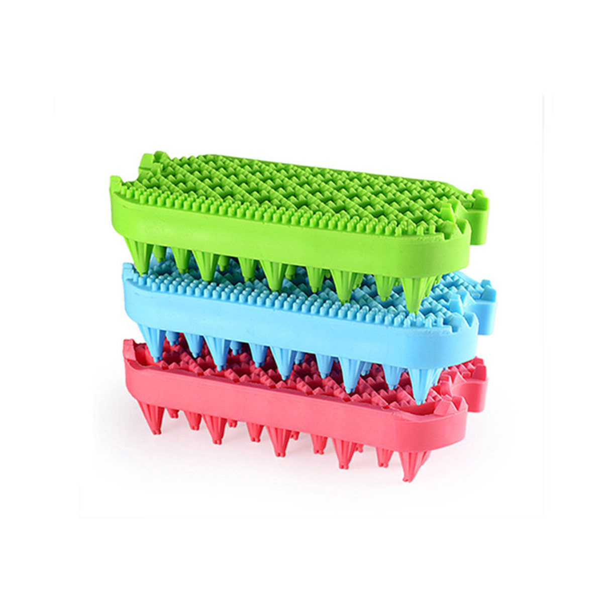 2 in 1 Double Sides Pet Dog Cat Comb Soft Rubber Dogs Cats Bath Massage Brush Hair Removing Grooming Cleaning Washing Tool