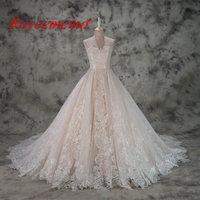 Hot Sale Pink Satin Off The Shoulder Special Lace Design Wedding Dress Factory Made Wholesale Price