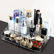 QQJJ Acrylic Portable Transparent  Makeup Storage Box Lipstick Holder Organizer Nail Polish Display Stand type