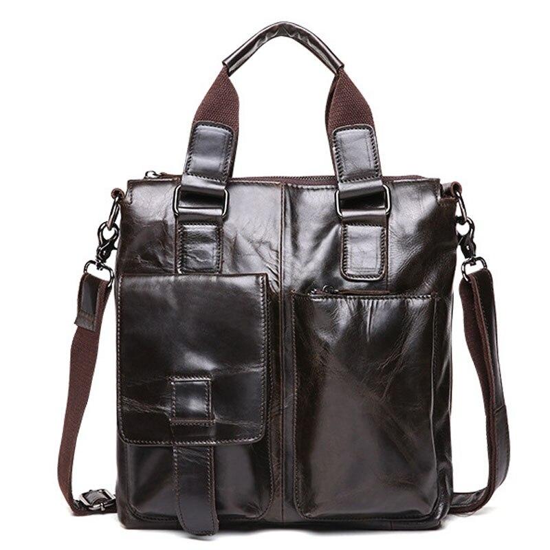 100% Genuine Leather 2017 Shoulder Bags Men Messenger Bag Leather Bags Male Handbag Bolsa Mens Business Briefcase Fashion