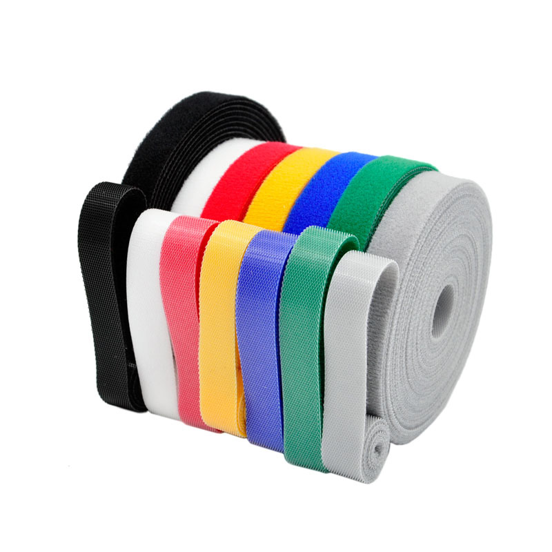 5 Meters/roll Magic buckle nylon cable tie Width 2 cm wire management cable ties 6 colors to choose from DIY(China)