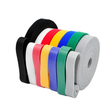 5 Meters/roll Magic buckle nylon cable tie Width 2 cm wire management cable ties 6 colors to choose from DIY