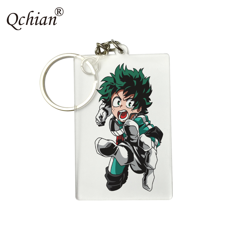 Double-sided Transparent Anime My Hero Academia PNG format HD Pictures Printed Beautiful Acrylic Keychain Logo Customization