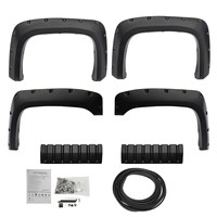 4Pcs Car Front Rear for Pocket Rivet for Fender Flares Textured For Chevy Silverado 1500 2500HD/3500HD 2007 2013