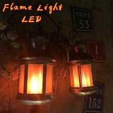 Светодиодный светильник с эффектом пламени, светильник с эффектом пламени, креативный светильник для дома, винтажное украшение, подарки на Хэллоуин и Рождество, светодиодный светильник