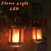 2019 lâmpadas led chama efeito de chama luz lâmpada vento criativo casa decoração do vintage presentes de natal dia das bruxas luz led