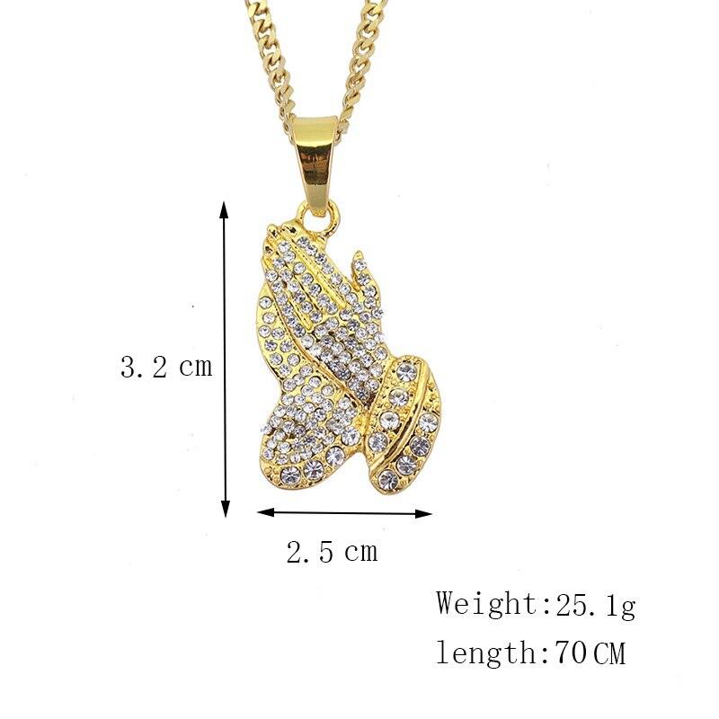 Хип-хоп ювелирные изделия Модные золотые длинные цепочки ожерелья для женщин и мужчин персонализированные буквы Орел молитвенный знак карта кулон ожерелье - Окраска металла: N006