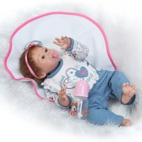 most popular new design 22inch 50cm full vinyl girl doll rooted mohair real soft touch gift for children Birthday