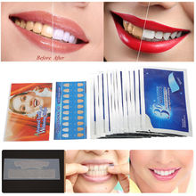 28Pcs 3D White Gel Teeth Whitening Strips Oral Hygiene Care Double Elastic Dental Blanchiment Dentaire