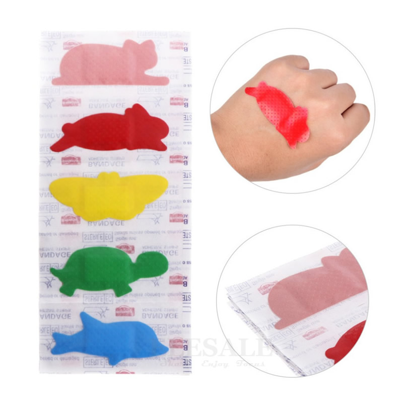 30Pcs/pack Cute Animal Cartoon Wound Adhesive Bandages Waterproof Medical Anti-Bacteria Band-Aids For Emergency Kits 30pcs pack random cartoon wound paste first aid band medical waterproof adhesive bandages wound dressing band for baby care