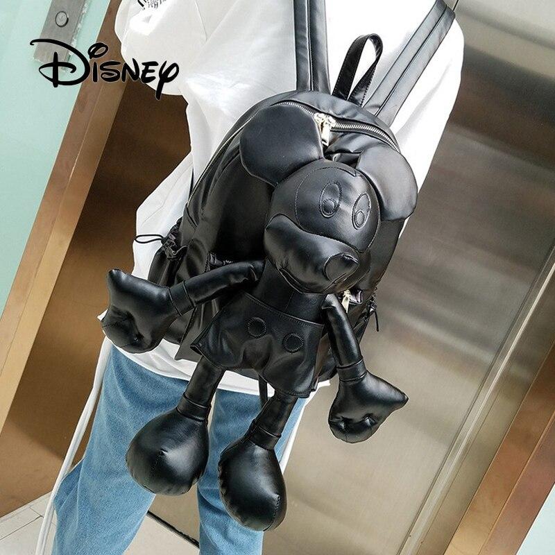 Sac à dos en peluche Disney sac à dos mignon Mickey Mouse sac à dos Kawaii Cartoon sac à main sac à dos pour filles enfants femmes cadeaux d'anniversaire