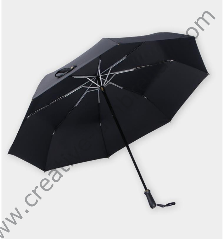 123cm 2 3 persons 75T alloy steel two fold manual open anti thunder windproof business umbrella ABS Rubber mini golf parasol in Umbrellas from Home Garden