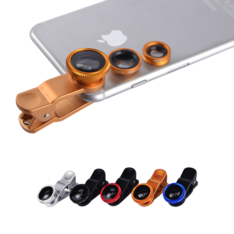 3 In 1 Mobile Phone Macro Fish Eye Lens Universal Wide  Camera Lenses for iPhone 4 4S 5 5C 5S 6 Plus Samsung Galaxy S3 S5 Note 4