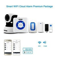 WiFi Camera Alarm Systems Security Home IP Camera Wi Fi Wireless Motion Sensor Door Alarms for Home Works with Amazon Alexa Echo
