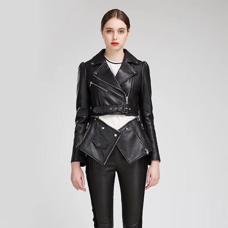check out 0363e f0b6e 2019-Nouvelle -Arriv-e-Printemps-Haute-Qualit-Ceintures-Noir-Femme-En-Cuir-Manteau-Vestes-Zipper-Moto.jpg