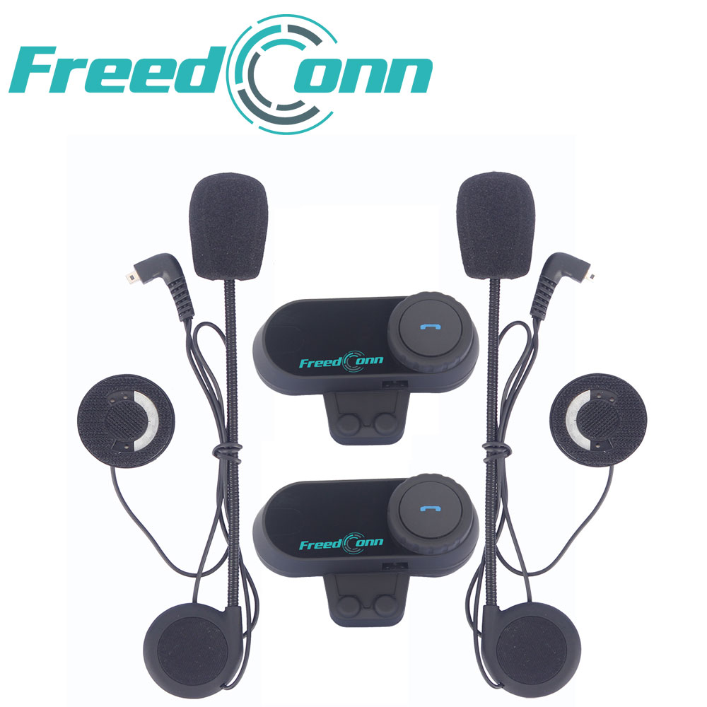 2pcs Freedconn T-COMVB 800m Wireless Bluetooth Helmet Interphone Headset Communicator with FM Radio Motorcycle Helmet Intercom t comvb bt wireless intercomunicador interphone headset 800m bluetooth motorcycle helmet intercom walkie talkie fm soft earpiece