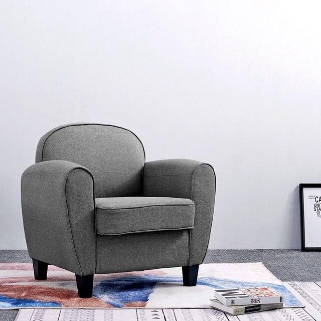 Moderne Gris Lin Baignoire Chaise Fauteuil Salon Meubles Canape Livraison Directe
