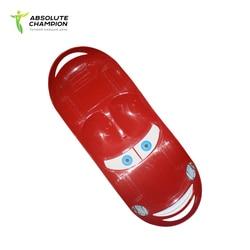 Сноуборд пластиковый - санки для катания с горки сидя и стоя для детей Absolute Champion