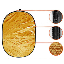 90*120CM 5 in 1 Portable Foldable Reflector with Carrying Bag