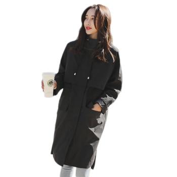 Lange Regenjacke   Windjacke Jacke Frauen Mantel Langarm Mit Kapuze Frühjahr Jacke Frauen Kleidung Tops Herbst Mantel Jacke Frauen Wasserdichte Regen Mantel