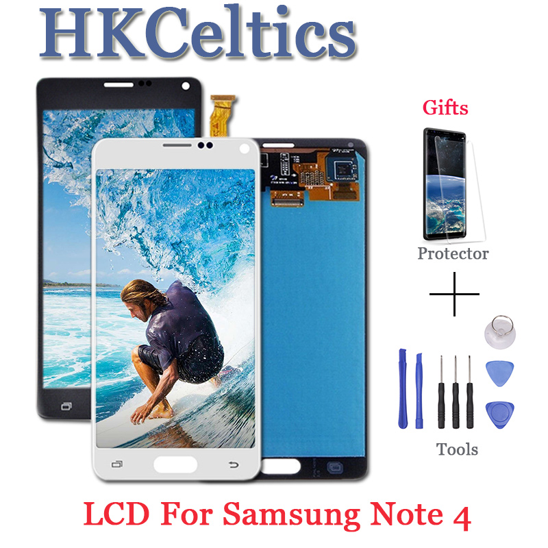 Display LCDs For <font><b>Samsung</b></font> <font><b>Galaxy</b></font> <font><b>Note</b></font> <font><b>4</b></font> Note4 N910 N910C N910A <font><b>N910F</b></font> N910H <font><b>LCD</b></font> Display+<font><b>Touch</b></font> <font><b>Screen</b></font> Digitizer Replacement image
