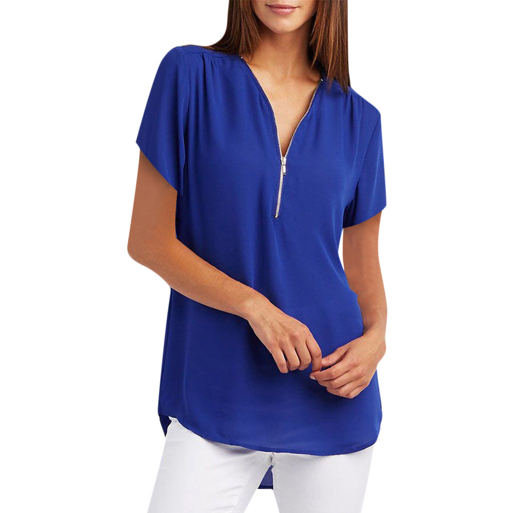 Blouse Women Clothes 2019 Women Tops Tunic Short Sleeve Ladies Tops Korean Summer Blouses Casual Womens Clothing