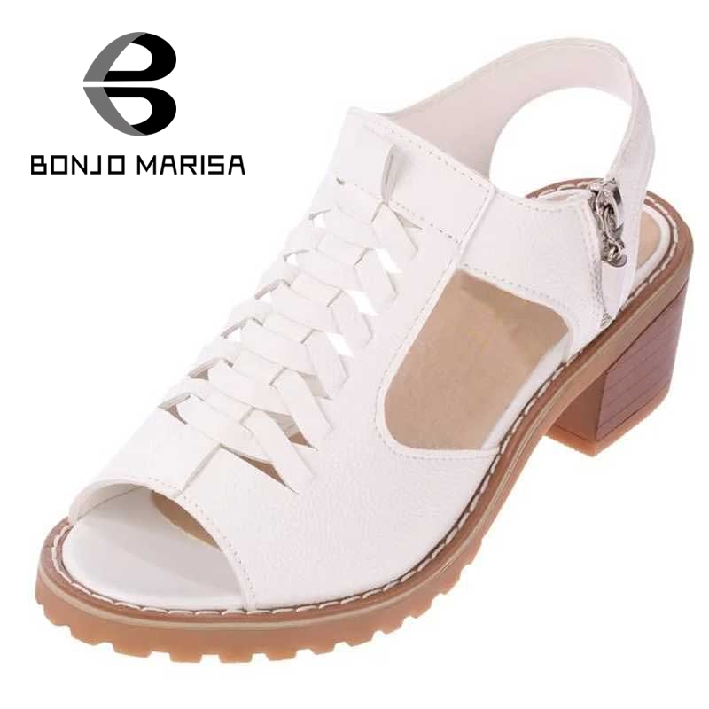 BONJOMARISA Rome Gladiator Women Summer Shoes Vintage High Heel Open Toe Less Platform Sandals For Woman Ladies  Footwear phyanic 2017 gladiator sandals gold silver shoes woman summer platform wedges glitters creepers casual women shoes phy3323