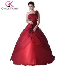 Карин грейс quinceanera одно бальное сладкий плечо лет красный за платье
