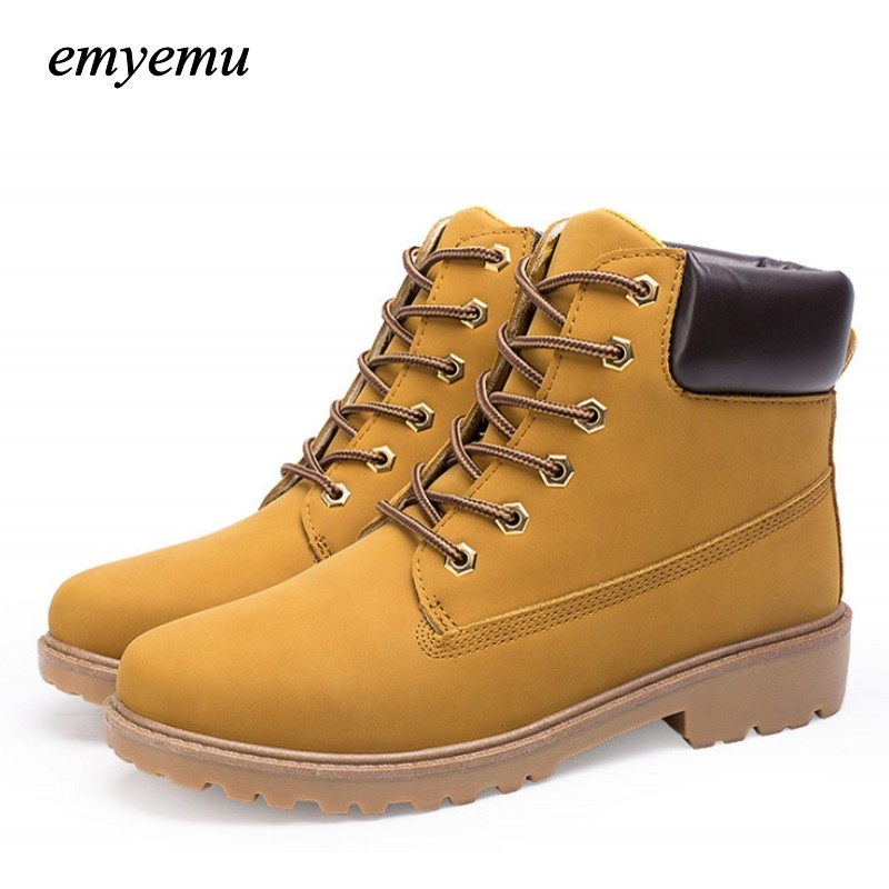 big size PU leather men font b boots b font autumn and winter man shoes ankle