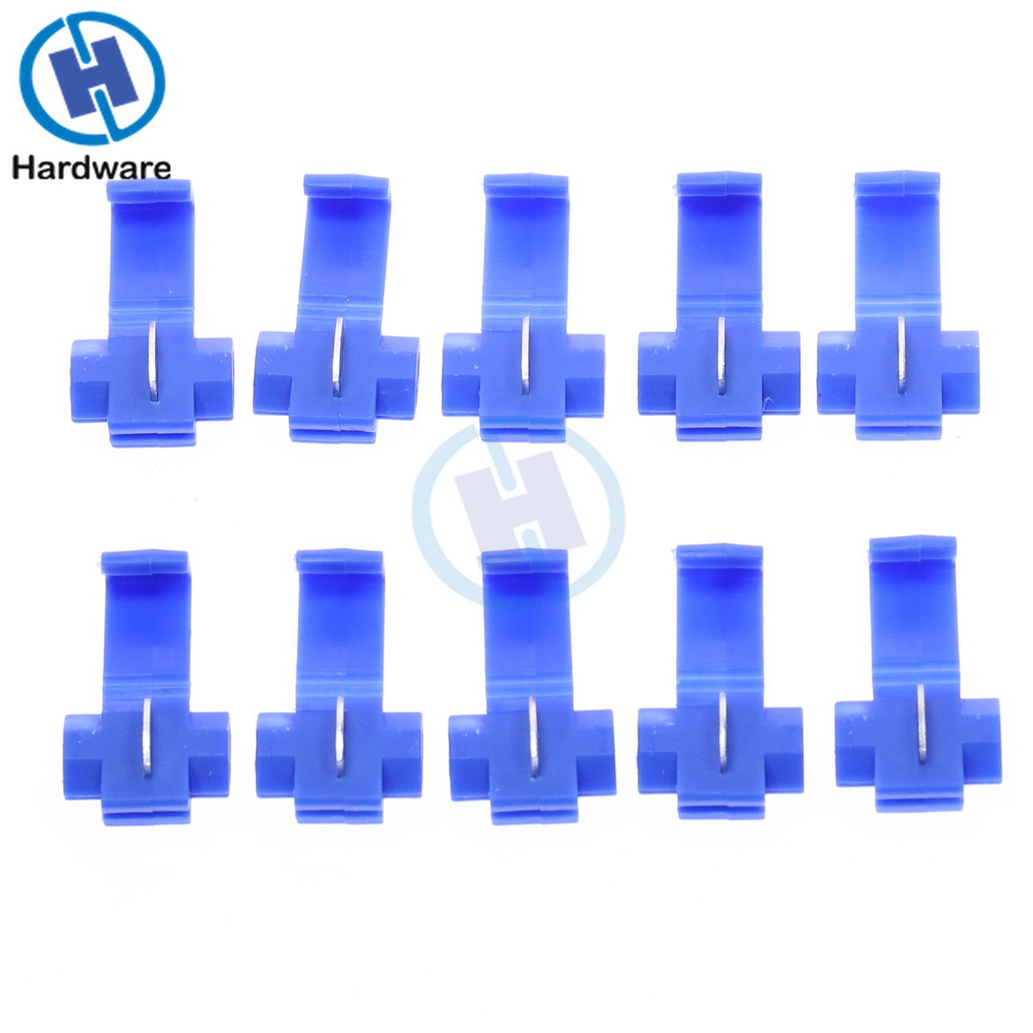 10/30/50Pcs Electrical Wire Cable Crimp Terminals Insulated Quick Splice Scotch Lock Blue 16-14 AWG Connectors
