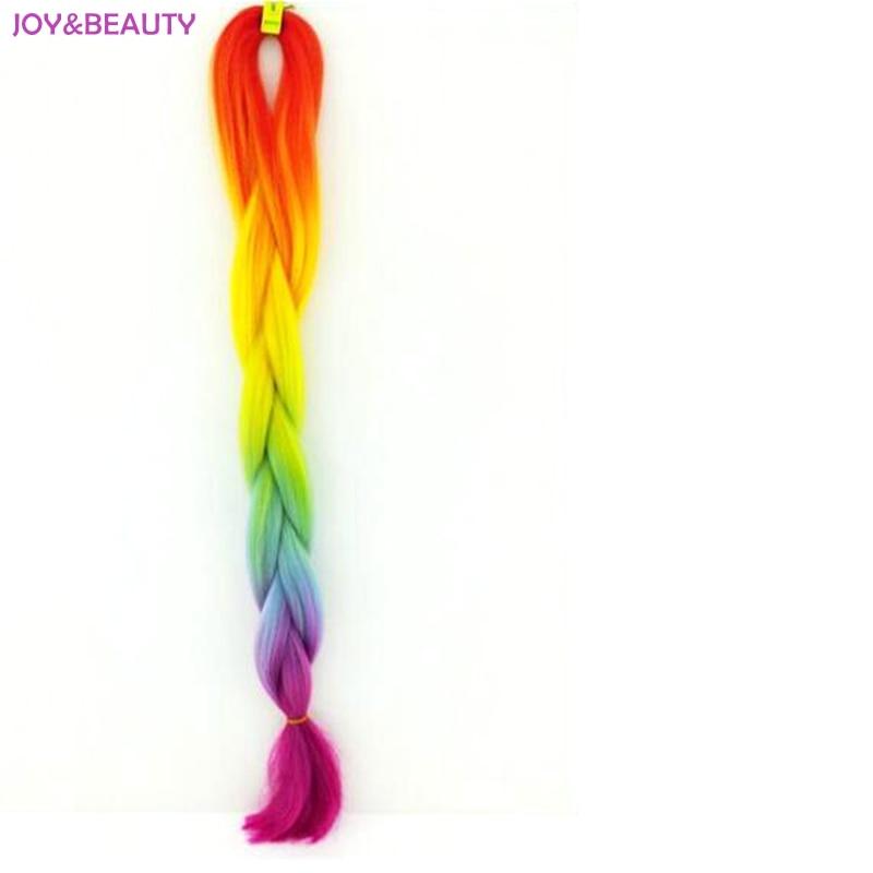 """Glädje och skönhet syntetisk tvåton hög temperatur fiber ombre flätande hår 20 """"100g jumbo flätande hår"""
