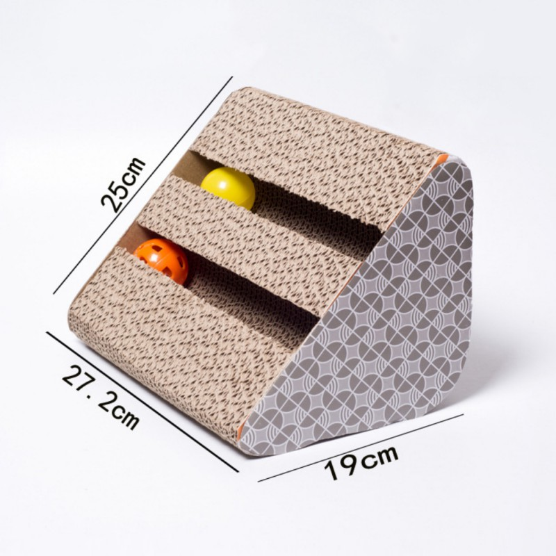 Pet Cat Toy Sided Bell Corrugated Paper Sofa Board with Catnip Handmade Kitten Cat claws toys Interactive Training Toy