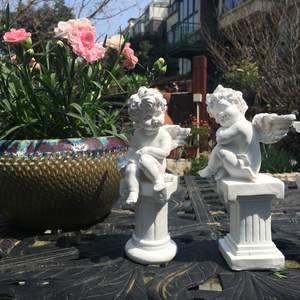 FGHGF Resin Figurines Crafts Garden Decor Statue Ornament