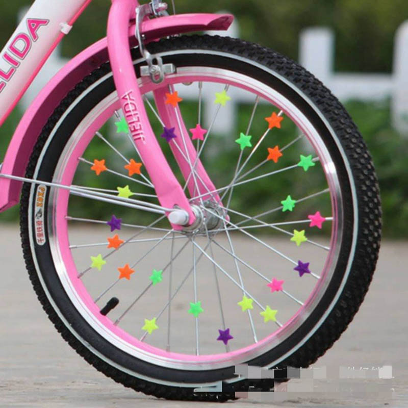 Bicycle Wheel Spoke Colorful Plastic Bead Multi Color Children Clip Decoration baby Bike kid Cycling Accessories