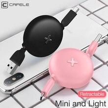CAFELE Cable USB tipo C para móvil, Cable de carga rápida para teléfono móvil Huawei, Xiaomi, Samsung Galaxy S9, sincronización de datos Mini, portátil