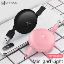 CAFELE USB Type C Cable for Huawei Xiaomi Mobile Phone Fast Charging USB C Cable for Samsung Galaxy S9 Data Sync Mini Portable
