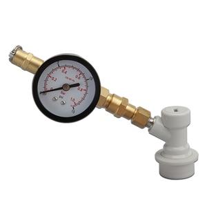Image 3 - Клапан сброса давления co2 с зарядным устройством, с манометром, 0 15 psi, с резьбовым шаровым затвором для заправки пива, бочонка CO2