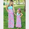 2016 лето мать дочь платье мода семьи сопоставления одежда макси платье семья посмотрите Семья одежда мать дочь одежда