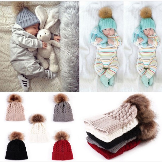 711f142fd58c Baby Hat Kids Winter Hats Newborn Cap Hot Super Soft Cashmere Beanie ...