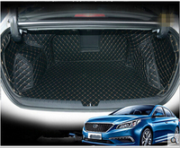 Top Quality Special Trunk Mats For Hyundai Sonata 2013 2009 Durable Waterproof Boot Carpets Liner For